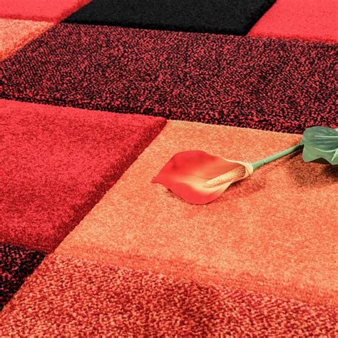 wohnzimmer teppich rot teppich wohnzimmer modern karo muster mit konturenschnitt