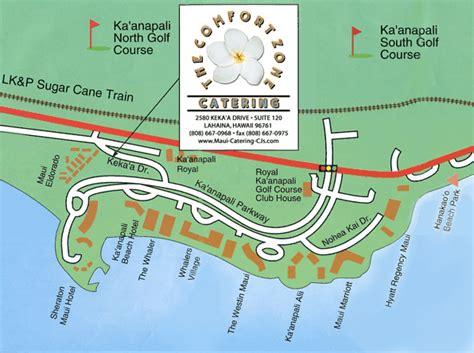 kaanapali resort map map of hotels on kaanapali