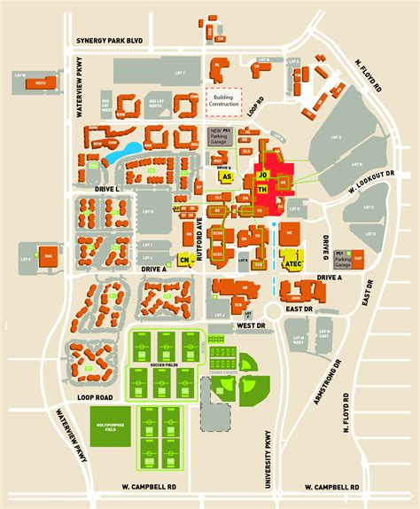 university of texas at dallas cus map directions to venues events school of arts and humanities the university of texas at dallas