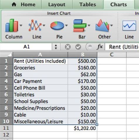 creating a college budget in microsoft excel: 8 steps