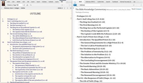 section outline ack bug missing outline sections in bob bible outline