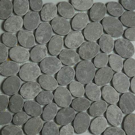 Light Grey Sliced   Pebble Mosaic