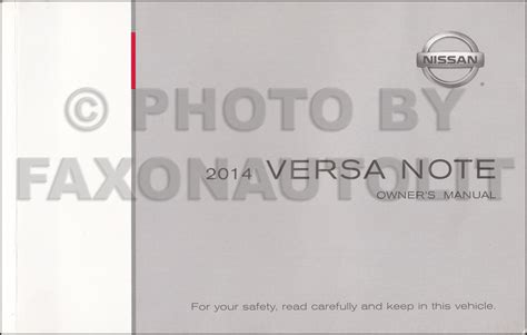 nissan versa note manual 2014 nissan versa note owner s manual original