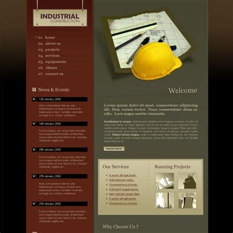 construction site templates construction web template 2 stylishtemplate