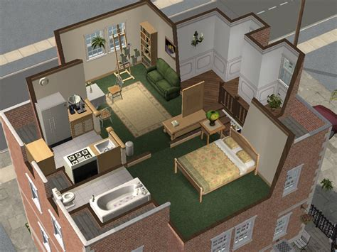 sims 3 apartment floor plans mod the sims backdoor lane 64 small apartment house