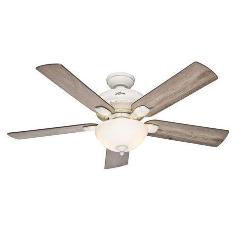 52 Outdoor Ceiling Fan With Light Shop Matheston 52 In Cottage White Indoor Outdoor Downrod Or Mount Ceiling Fan With
