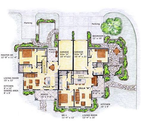 multi family plan 76379 at familyhomeplans com country craftsman farmhouse multi family plan 56562