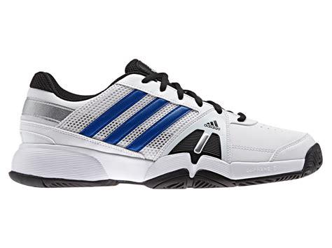 adidas mens barricade team 3 tennis shoes white blue