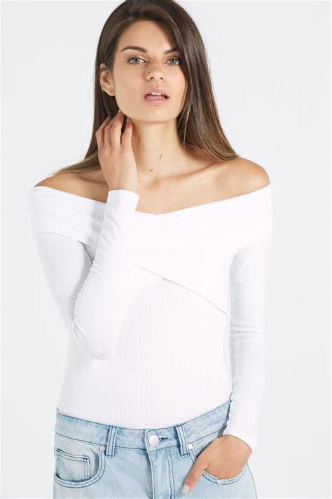 Shoulder Sleeve Top louella wrap shoulder sleeve top shopperboard