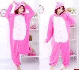 Jam Flanel Stitch Pink unisex kigurumi onesie animal pajama costume pyjamas romper suit ebay