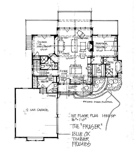 the bitteroot timber frame home floor plan blue ox the fraser timber frame home floor plan blue ox timber