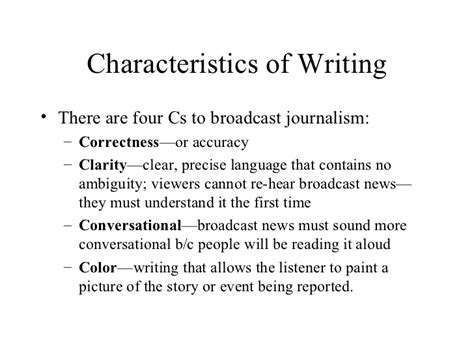 Characteristics Of A Essay by Television News Writing