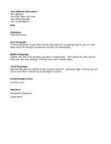 Business Letter Accepting Apology How To Write A Letter Of Apology In Business Cover