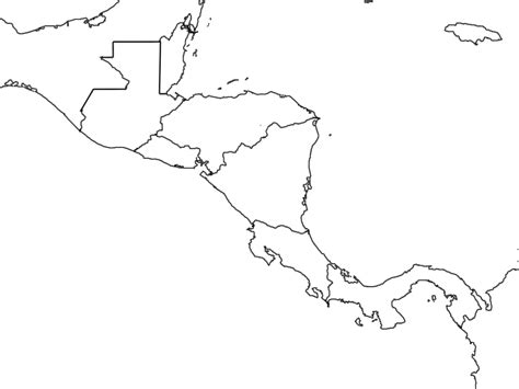 map outline of central america blank america map scrapsofme me