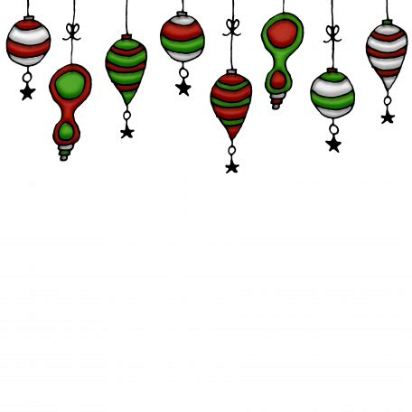 hanging christmas ornament page topper graphic  melissa riddle pixel scrapper digital