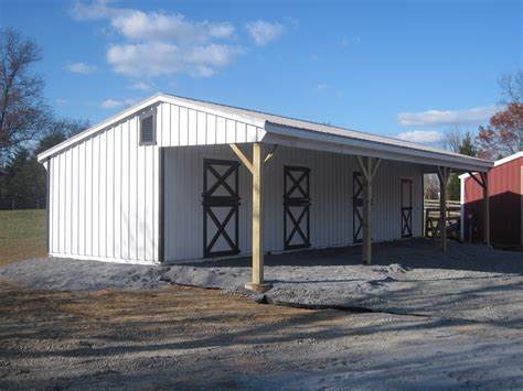 covered lean  barn jn structures