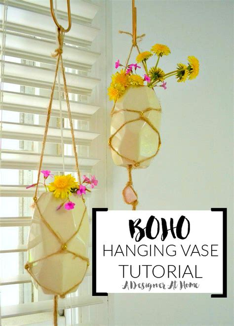 Hanging Vases Diy by Do It Yourself Bohemian Hanging Vases Boho Handfuls Of