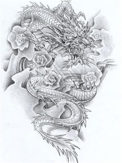 new dragon tattoo designs grey ink yakuza design