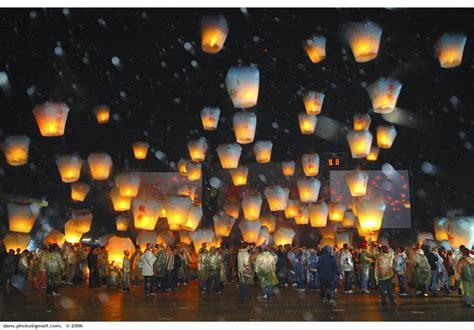 candele cinesi volanti lanterne di carta volanti