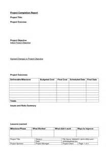 project completion template best photos of completion report template