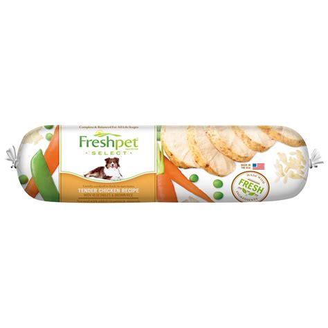 freshpet food freshpet 174 slice and serve food chicken vegetable rice recipe 1 lb