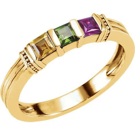 carinagems gold ring princess cut stones