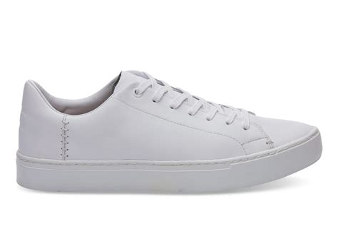 leather mens sneakers white leather s lenox sneakers toms 174