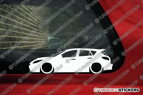 mazda  mazdaspeed mzr   lowered car outline stickers decals