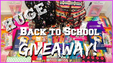 School Supply Giveaway - huge back to school supplies giveaway youtube
