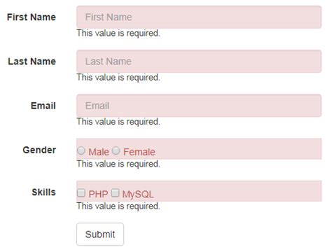 parsley pattern validation html form validation using parsley artisans web