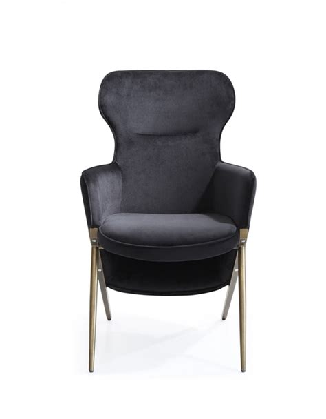 modern black accent chair accent chairs modrest coreen modern black velvet accent