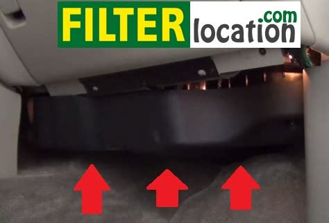where is located gmc denali cabin air filter?
