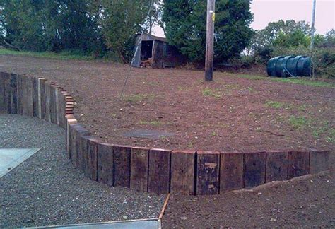Rounded Railway Sleepers by Retaining Wall Ideas Diy Projects For Everyone