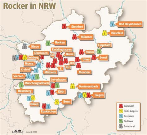 1 Motorradclub Bedeutung by Map Of Biker Gangs In The German State Of Rhine
