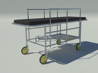 gurney bed gurney 3d models