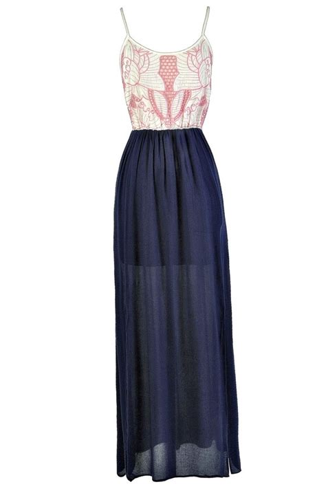 Dress Perempuan Navy Pink pink and navy maxi dress pink and navy dress pink and navy summer dress pink and navy