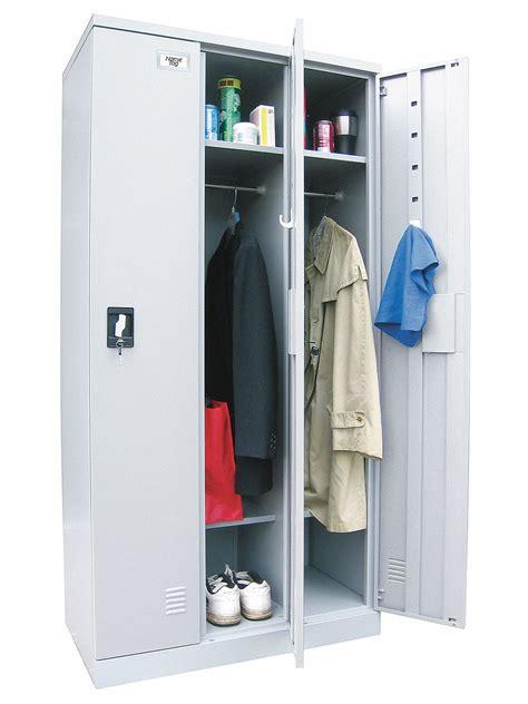 grainger approved gray wardrobe locker  wide  tier