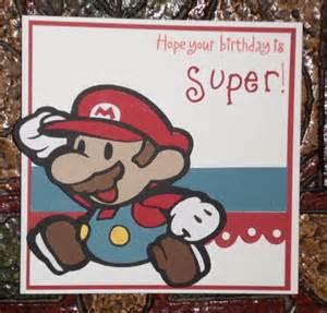 mario paper pieced birthday card antoinette s hobbies