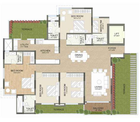 3 4 bhk apartments floor plan advaitha aksha