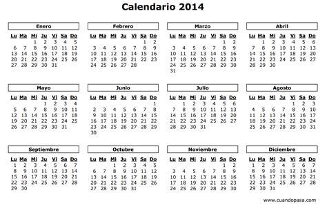Calendario De Calendario De Per 250 2014