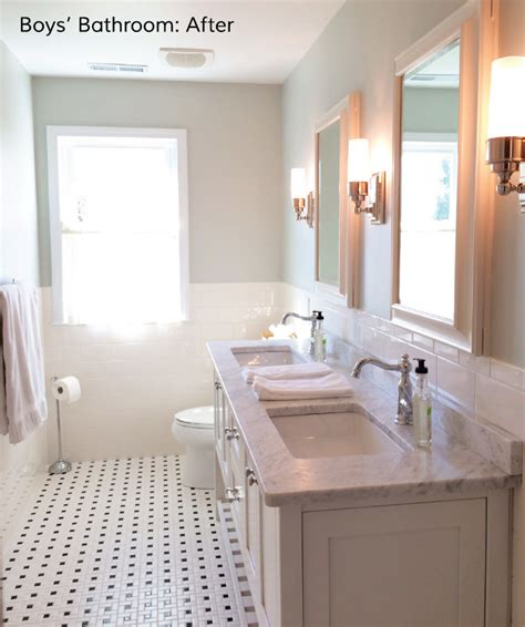 Bathroom Tile And Paint Ideas easton place designs blog boys bathroom before and after