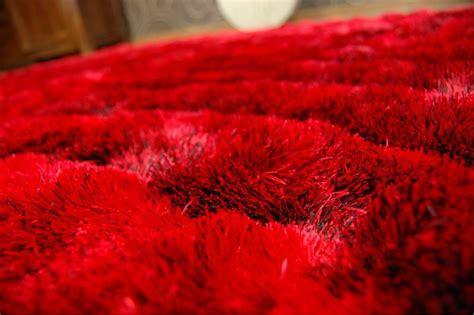 3d teppiche teppich shaggy 3d 203 rot