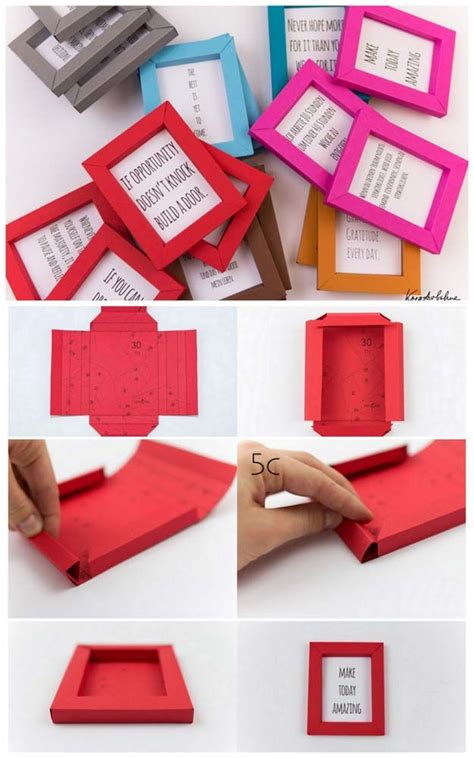 How To Make Birthday Presents Out Of Paper - 25 best ideas about photo frames handmade on