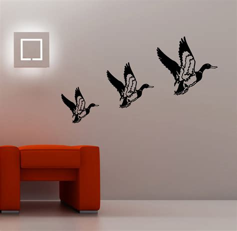 Vinyl Wall Art Stickers 3 x retro flying ducks wall art sticker vinyl lounge