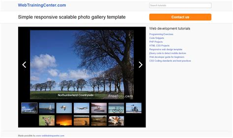 Photo Gallery Template Photo Gallery Website Template Free