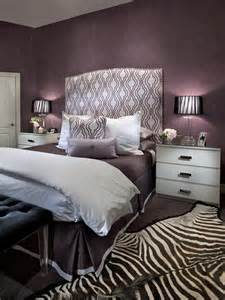 Silver Purple Bedroom - contemporary purple bedroom with zebra print rug hgtv