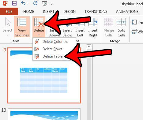 how to delete a table in powerpoint 2013 solve your tech