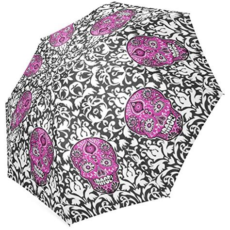 skull pattern umbrella sugar skull rain gear webnuggetz com
