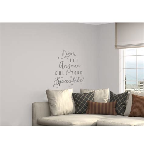 Wallpaper Sticker Glitter by Glitter Wall Sticker Never Let Anyone Dull Your Sparkle