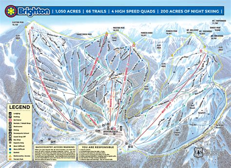 map of us ski area brighton utah us ski resort review and guide